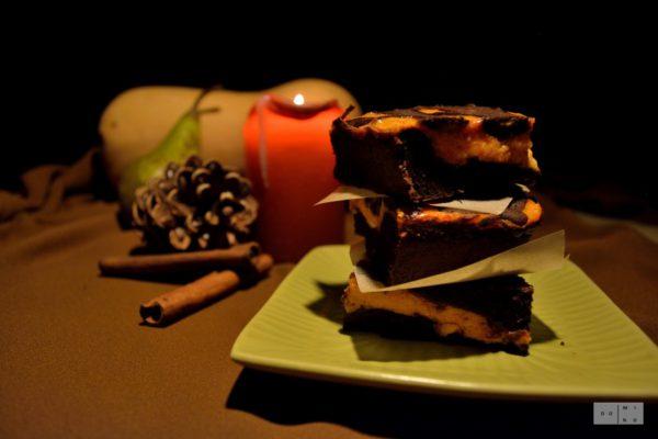 Dyniowe serniko-brownie z przyprawami korzennymi