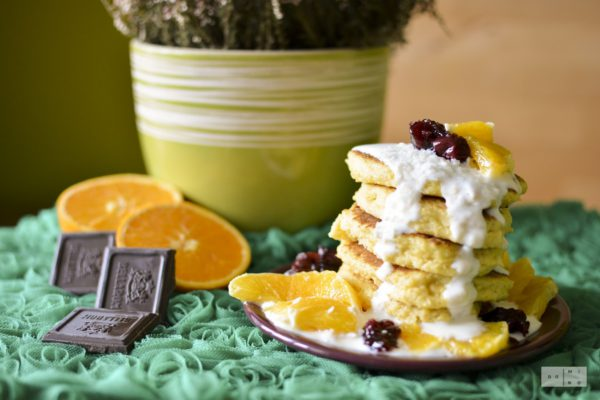 millet yoghurt pancakes