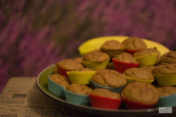 Bananowo – marchewkowe muffiny owsiane