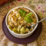 gluten-free rhubarb coconut crumble rabarbarowe crumble