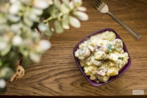 miletotto with fava beans and zucchini