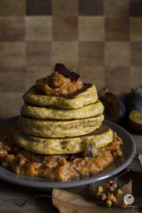 Pumpkin buckwheat – spelt pancakes with pumpkin plum jam