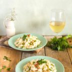 Mleczne risotto z kalafiorem
