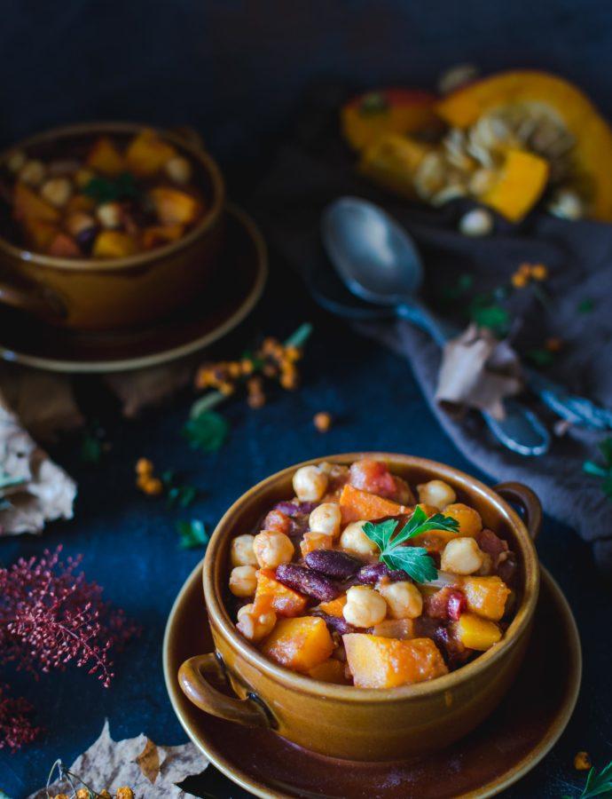 Wegańskie chilli z dynią