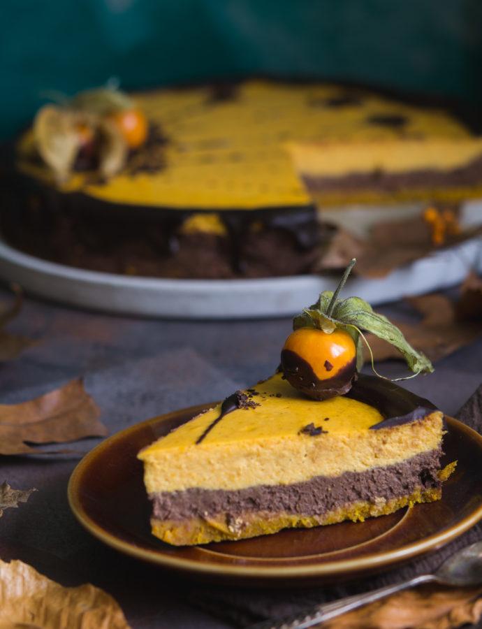 Sernik czekoladowo – dyniowy z pieprzem i chilli