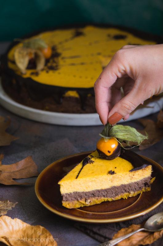 Sernik dyniowo czekoladowy z pieprzem i chilli