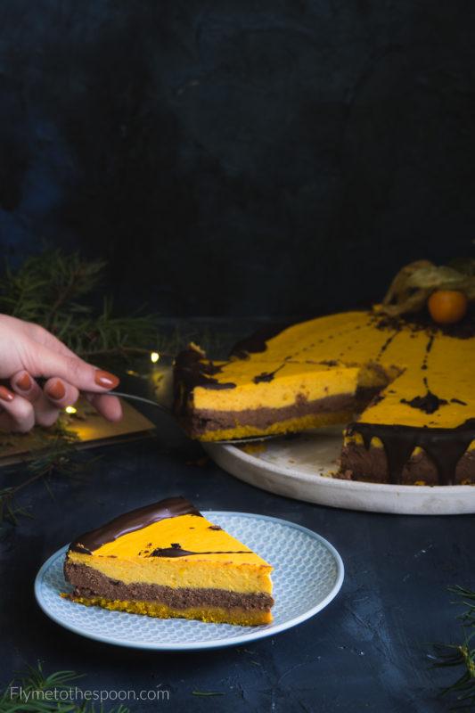 Sernik czekoladowo - dyniowy z pieprzem i chilli