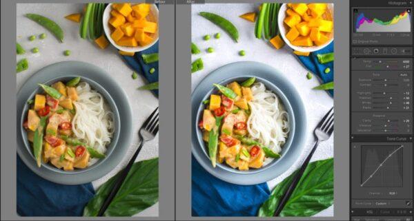Jak obrobić jasne zdjęcia w Lightroomie na przykładzie curry
