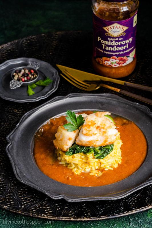 Dorsz z ryżem w sosie tandoori