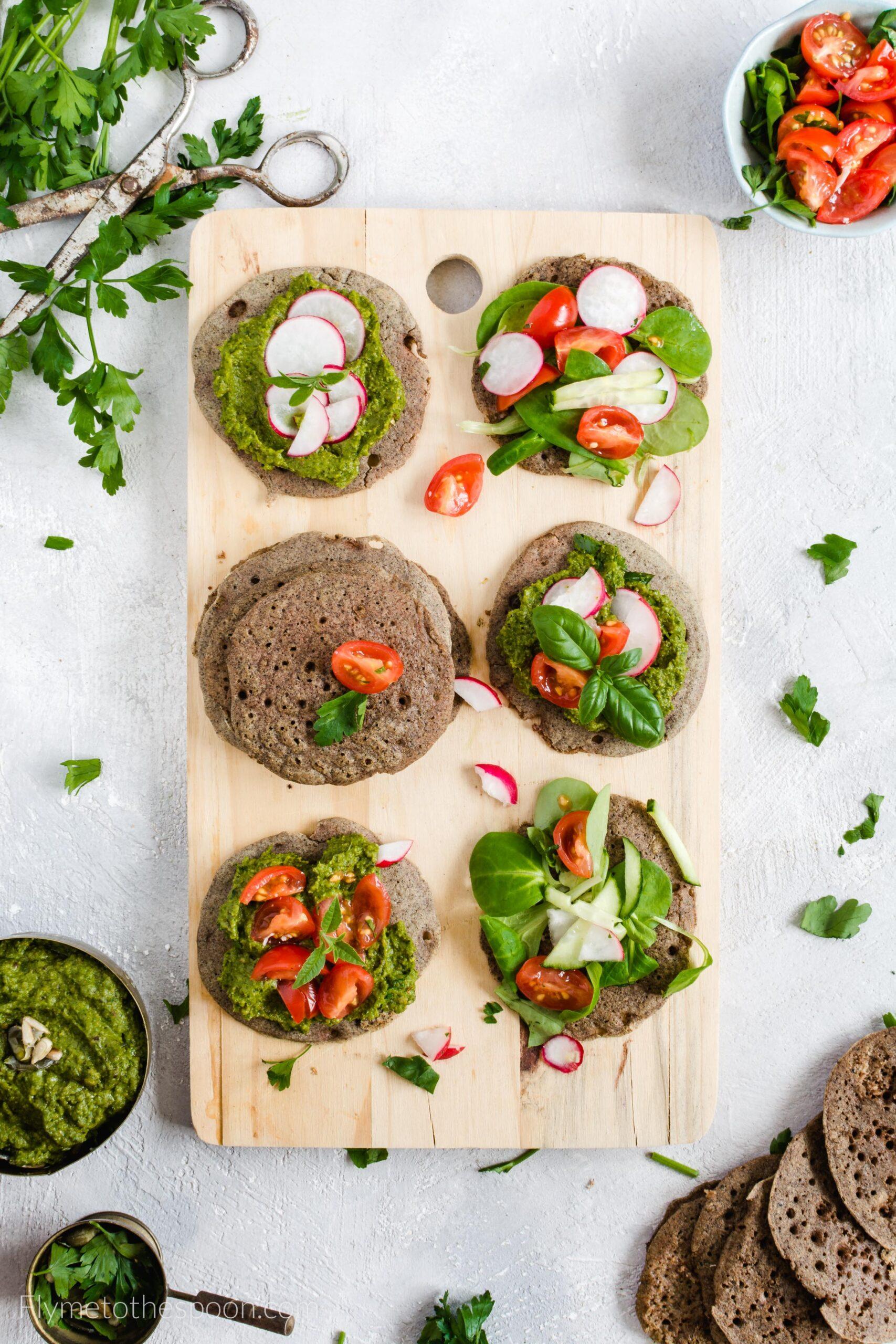 Placuszki gryczane – zamiennik chleba (bezglutenowy i wegański)