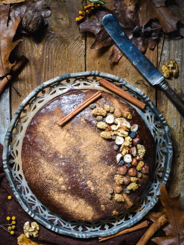 Bezglutenowy piernik marchewkowy – gryczane  ciasto marchewkowe z przyprawami korzennymi