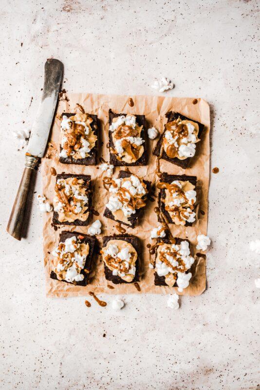 Dyniowe brownie z masłem orzechowym