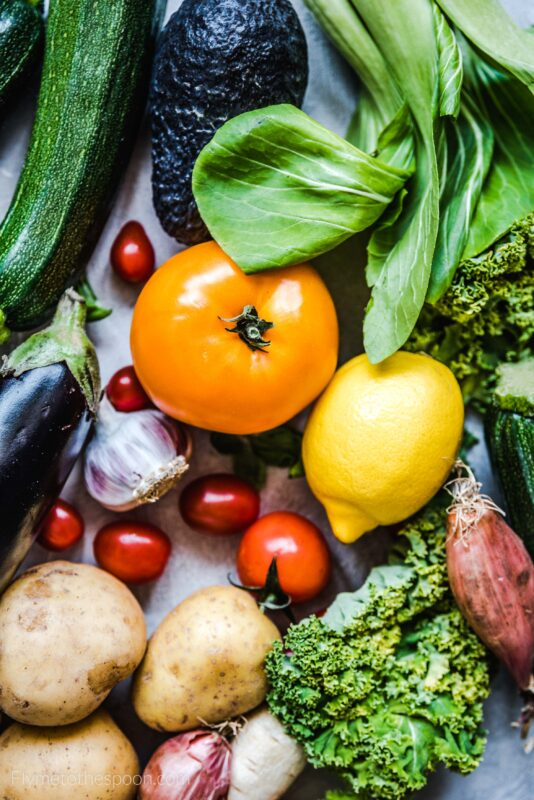 Warzywa i owoce fotografia