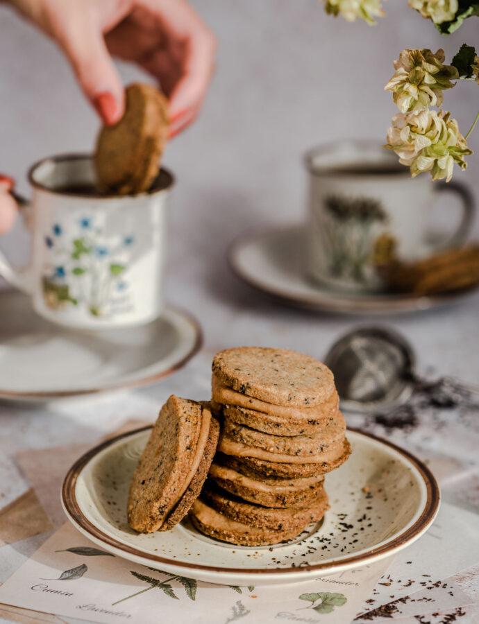 Ciasteczka herbaciane z kremem jaglanym