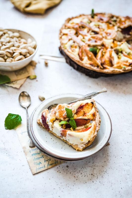 Tarta z brzoskwiniami i ricottą