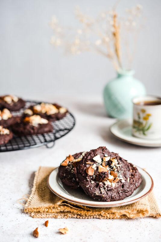 Ciasteczka czekoladowe z fasoli z masłem orzechowym