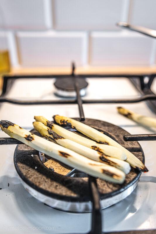 Kaszotto ze szparagami i szpinakiem - kasza jaglana ze szparagami