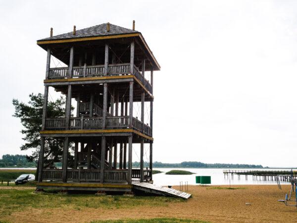 Zalew Siemianówka - wieża widokowa