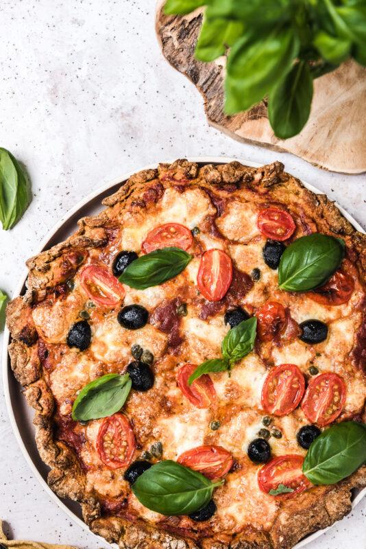 Pizza na spodzie dyniowym - czyli co zrobić z puree dyniowego?